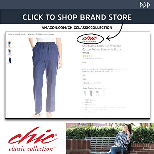 Chic Classic Collection Womens Relaxed Fit Flat Bermuda Short