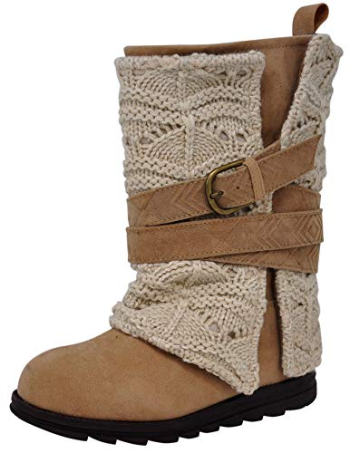 Muk Luks Womens Nikki Belt Wrapped Boot