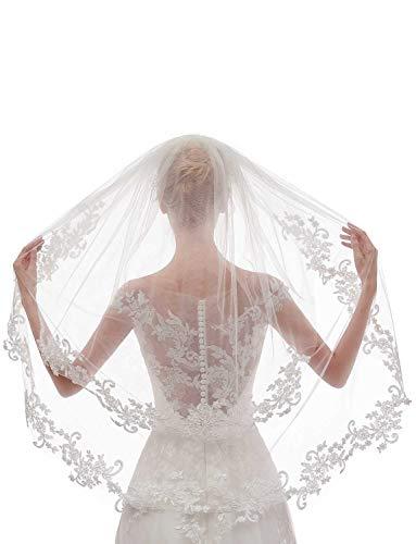 Bachelorette Party Decorations Supplies Azaleas White Double Ribbon Edge Center Cascade Bridal Wedding Veil with Comb/& Bride to Be Satin Sash